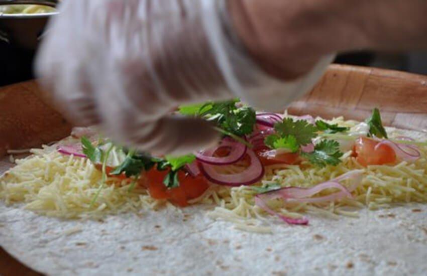 Homemade burritos